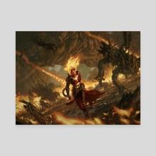 MTG / Chandra's Outburst - Canvas by Yongjae Choi