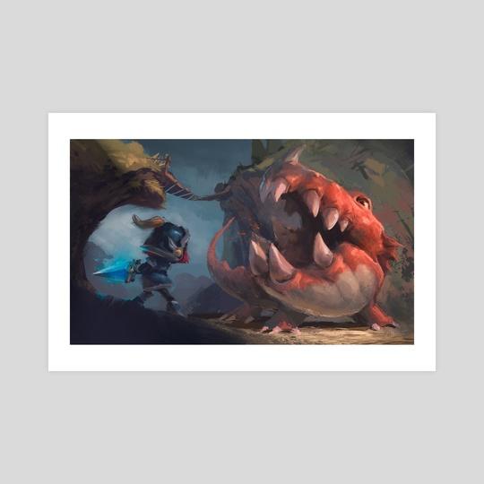 Dragon fight by Magda Proski