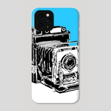 Vintage Graphex Camera in blue - Phone Case by Aiden James
