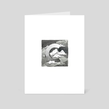 C is for Clouds - Art Card by Sarah Ross