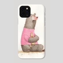 Apprehensive Bear - Phone Case by Neesha Hudson