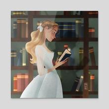 Read forever - Acrylic by Marta Garcia