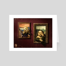 The Scream vs Mona Lisa! - Art Card by Antonio De Luca