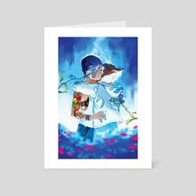 Blue Butterfly - Art Card by Xiao Tong Kong
