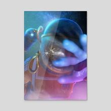The Lost Cosmonaut - Acrylic by Daniel Mikołajczak