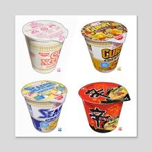 Cup Noodle collection 01 - Acrylic by Itadaki_Yasu