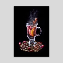 Mulled Wine (Classic Cocktails Mini Season #4 - Winter Edition) - Canvas by Anna Suslina