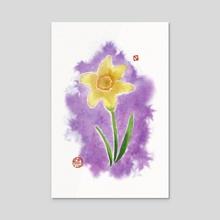 Daffodil - Acrylic by Kim Z.