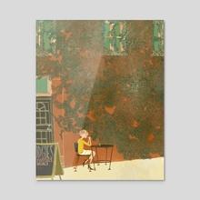 Mudgies - Canvas by Meredith Miotke