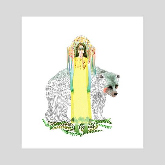 Yellow Queen and Bear by betül ensari