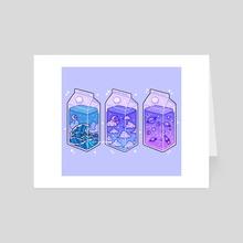magical milk cartons - Art Card by fresh_bobatae