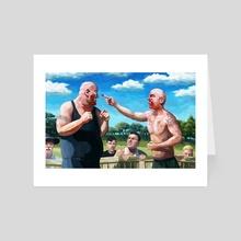 Bare Knuckle Brawl - Art Card by Eric Wayne