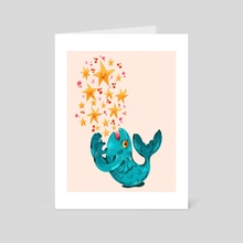 Glitter Fish - Art Card by Katie Hicks