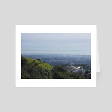 Lawrence Observatory - Art Card by Mark Mis