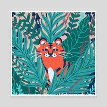 Jungle Tiger - Canvas by Sarah Trautman