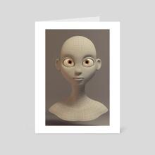 Topology of a Portrait - Art Card by Jesus Fernandez