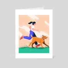 Run! - Art Card by Somewan draws
