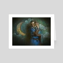The Moon - Art Card by Julia Metzger