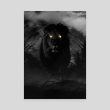 Stay Dark - King - Canvas by Kode Subject