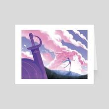 Rosy Clouds - Art Card by NN Chan
