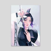 the Butterfly Pillar  - Acrylic by rosheruuu