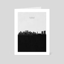 Miami - Art Card by Deniz Akerman