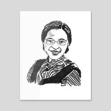Rosa Parks - Acrylic by Dafina Dervishi