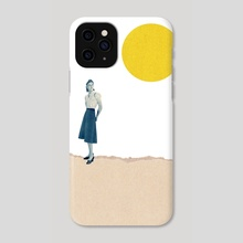Full Moon - Phone Case by LennyCollageArt