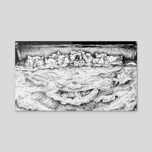 bed of ocean - Acrylic by Algee Quiambao