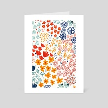 My Soul Made Meadow Flowers - Art Card by 83 Oranges