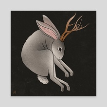 Jackalope   - Canvas by Lucille Petty