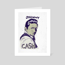 Johnny Cash - Art Card by Babak Esmaeli