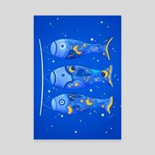 Starry Sky Koinobori - Canvas by Siny Cath