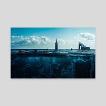 New York Underwater - Canvas by Milos Karanovic