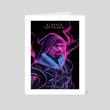 Ghosts of the Past: Wraith King  - Art Card by Joycelyn Ong