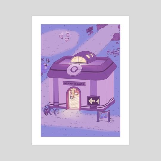 Pokemon Centre (Night) by Laura Long