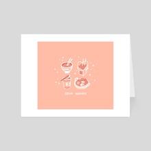 Send Noods - Art Card by EJ Chong