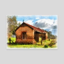 Kuitpo Cottage - Canvas by Alan Carson