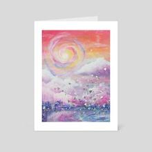Intergalactic Sunset - Art Card by Kenna Reid
