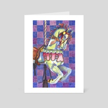Carousel Pony - Art Card by Wendy Martin Art