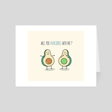 Will you avocuddle with me? - Art Card by Alena Hees