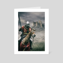 Middle Ages Knight - Art Card by Carlos Caetano
