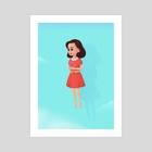 floating girl - Art Print by alvarizki yusuf