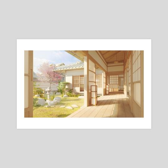 Japanese zen garden (day version) by Omorphia