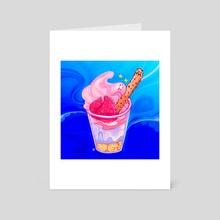 Underwater Parfait - Art Card by Lara Varouqa