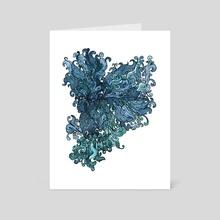 Betta Splendens - Blue - Art Card by Marjorie Serra