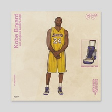 Kobe Bryant - Acrylic by FULALEO