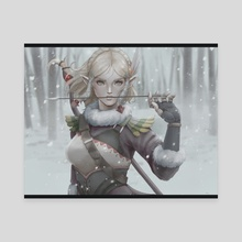 Zelda - Snowquill - Canvas by Kuma NZ