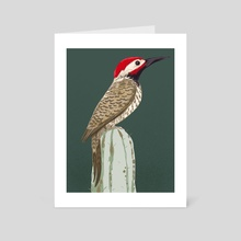 Black Necked Woodpecker - Art Card by Chi-Yun Lau