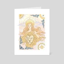 Leo  - Art Card by kevin mercau
